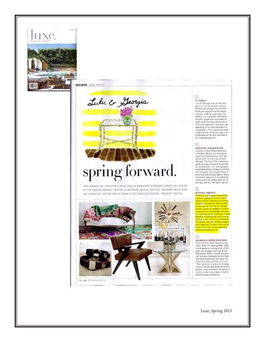 Luxe Magazine Spring 2013